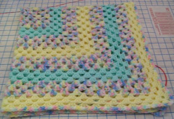 Easy Granny Square Baby Blanket