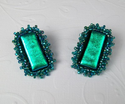 Fused Glass Post Earrings