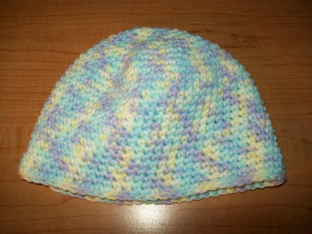 Baby Beanie Hat With No Slip Stitch