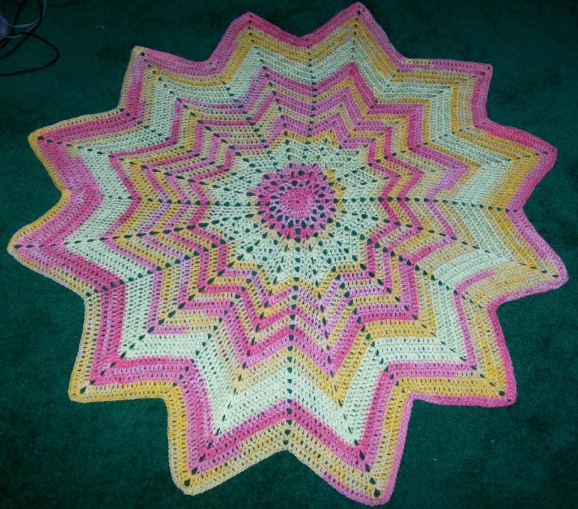 Star Baby Afghan Done