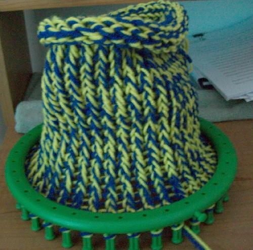 School Color Loom Knit Hats