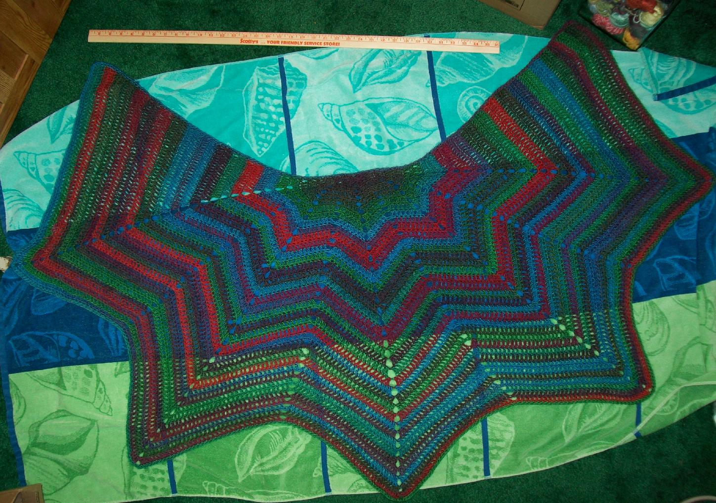 Crochet Pattern Ripple Shawl : The Crafty Princess Diaries Ripple Shawl 2 Done