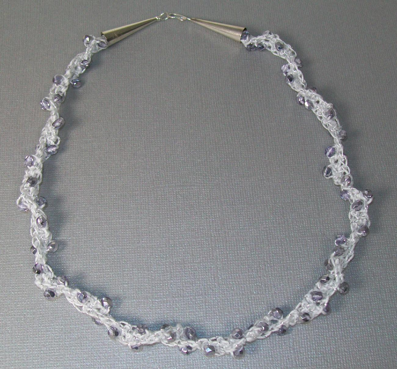 Here is the necklace I made using the beads I purchased yesterday at ...